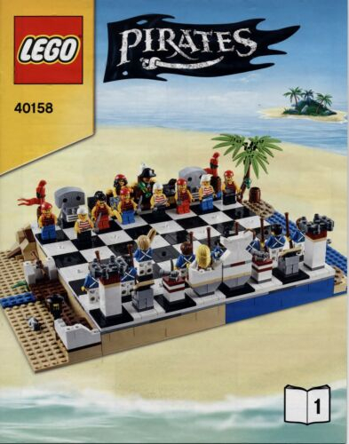 Lego Pirates # 40158 Pirates Chess Set (2 Hefte) - Bauanleitung (keine Steine!)