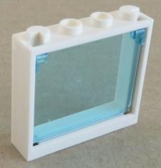 LEGO - Fenster / Window, weiß mit Fenster Glas, trans hellblau # 60594 / 60603