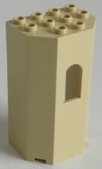 LEGO - Paneel / Wall / Burg-, Turmwand 3 x 4 x 6, beige # 30246