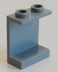 LEGO - Paneel 1 x 2 x 2 mit offenen Noppen, hellgrau # 4864b