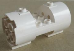 LEGO - Zylinder / Cylinder 3 x 6 x 2 2/3, rund mit Ausschnitt, weiß  # 30360