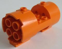 LEGO - Zylinder / Cylinder 3 x 6 x 2 2/3, rund mit Ausschnitt, orange  # 30360
