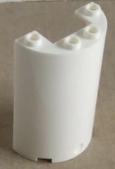 LEGO - 2 x Zylinder / Cylinder halb 2 x 4 x 5 mit Ausschnitt, weiß # 85941