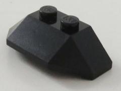 LEGO - Ecke / Wedge 2 x 4, 3-fach geneigt (2 Stück), schwarz # 47759