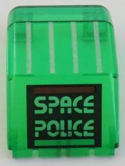 LEGO - Windschutzscheibe / Windscreen 4 x 4 x 4 1/3, Space Police  # 2483pb01