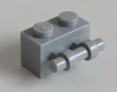 LEGO - Stein / Brick 1 x 2 mit Griff (6 Stück), hell blaugrau # 30236