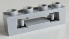LEGO - Scheiben Werfer / Disc Shooter 1 x 4 (2 Stück), hell blaugrau # 16968