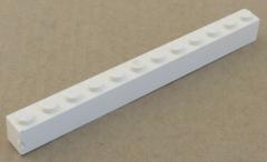 LEGO - Stein / Brick 1 x 12 (2 Stück), weiß # 6112