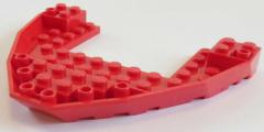 LEGO - Boot Rumpf / Bug / Bow Brick 10 x 12 x 1, rot # 47404