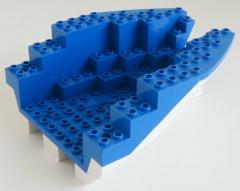 LEGO - Boot Rumpf / Boat Hull 14 x 12 x 5 1/3 (Heck), weiß # 6053c02