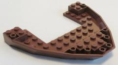 LEGO - Boot Rumpf / Bug / Bow Brick 10 x 12 x 1, rotbraun # 47404