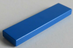 LEGO - Fliese / Tile 1 x 4 (10 Stück) , blau # 2431