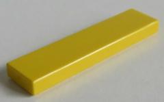 LEGO - Fliese / Tile 1 x 4 (10 Stück) , gelb # 2431