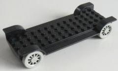 LEGO Fabuland - Fahrgestell / Vehicle Base 14 x 6 o. Kupplung, schwarz # 3888c01