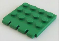 LEGO - Gelenk Platte / Hinge Plate 4 x 4 (2 Stück), grün # 4213