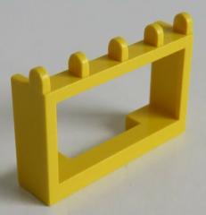 LEGO - Gelenk / Hinge Fahrzeug Dach Halterung 1 x 4 x 2 (2 Stück), gelb # 4214