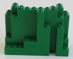 LEGO - Felsen / Rock 4 x 10 x 6 rechtwinklig, grün # 6082