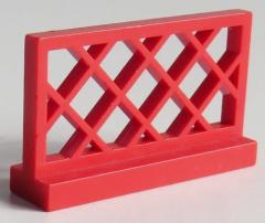 LEGO - Zaun / Fence 1 x 4 x 2 (2 Stück), rot # 3185