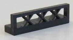 LEGO - Zaun / Fence 1 x 4 x 1 (4 Stück), schwarz # 3633