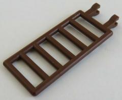 LEGO - Zaun / Absperrung / Leiter 7 x 3 mit Doppel - Clip (4 Stück), braun #6020
