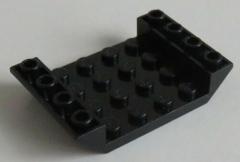 LEGO - 2 x Dachstein invers 45 6 x 4 doppelt mit 4 x 4 cutout, schwarz # 30283