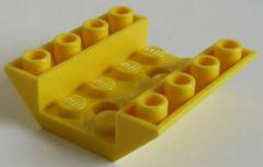 LEGO - 2 x Dachstein / Slope invers 45 4 x 4 doppelt - 2 Löcher, gelb # 72454