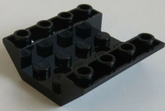 LEGO - 2 x Dachstein / Slope invers 45 4 x 4 doppelt - 2 Löcher, schwarz # 72454