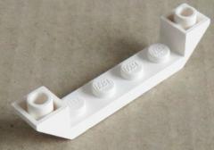 LEGO - 6 x Dachstein/Slope invers 45 6 x 1 doppelt mit 1 x 4 Cutout, weiß #52501