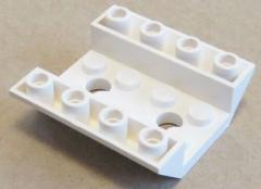 LEGO - 2 x Dachstein / Slope invers 45 4 x 4 doppelt - 2 Löcher, weiß # 72454