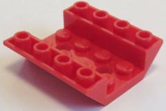 LEGO - 2 x Dachstein / Slope invers 45 4 x 4 doppelt - 2 Löcher, rot # 72454