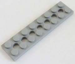 LEGO Technic - Platte / Plate 2 x 8 mit 7 Löchern (2 Stück), hellgrau # 3738