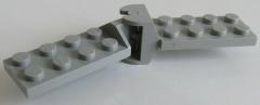 LEGO - Gelenk Platte / Hinge Plate / Scharnier 2 x 4 (2 Paar), hellgrau # 3640c01