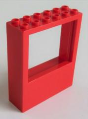 LEGO - Fenster / Window 2 x 6 x 6, rot # 6236