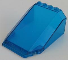 LEGO - Windschutzscheibe / Windscreen 8 x 6 x 3, transparent dunkelblau # 551