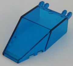 LEGO - Windschutzscheibe / Windscreen 7 x 4 x 1 2/3, transp. dunkelblau # 30372