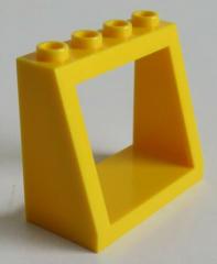 LEGO - Windschutzscheibe Rahmen 2 x 4 x 3 (2 Stück), gelb # 2352b