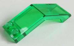 LEGO - Windschutzscheibe / Windscreen 5 x 2 x 1 2/3 (2 Stück), trans grün  #6070