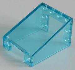 LEGO - 2 x Windschutzscheibe/Windscreen 3 x 4 x 4 invers, transp. hellblau #4872