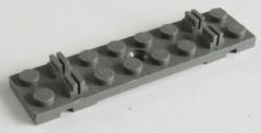 LEGO Zug / Train - 2 x Bahnschwelle / Track Sleeper Plate 2x8, dunkelgrau # 4166