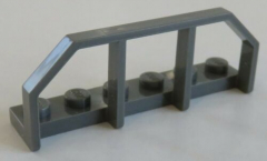 LEGO Zug / Train - Wagon - Ende / Geländer 1 x 6 (2 Stück), dunkelgrau # 6583