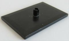 LEGO Zug / Train - Fliese 6 x 4 mit Pin (Drehplatte, Drehgestell), schwarz #4025