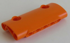 LEGO Technic - Paneel 7 x 3 mit 2 Pin Löchern, gebogen, orange # 24119