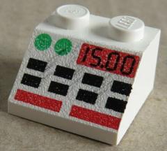 LEGO - Dachstein / Slope 45  2 x 2 bedruckt Anzeige Pult, weiß # 3039px4