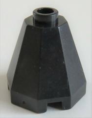 LEGO Kegel / Cone - Kegel 2 x 2 x 1 2/3 (2 Stück), achteckig, schwarz # 6039