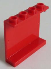 LEGO - Paneel 1 x 4 x 3 mit offenen Noppen (2 Stück), rot # 4215b