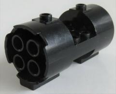 LEGO - Zylinder/Cylinder 3 x 6 x 2 2/3, rund mit Ausschnitt, schwarz # 30360