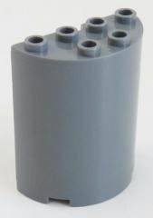 LEGO - Zylinder / Cylinder halb 2 x 4 x 4, dunkel blaugrau  # 6259
