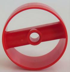 LEGO - Zylinder / Cylinder 4 x 4 x 1 2/3 mit Pin Loch (2 Stück), rot  # 41531