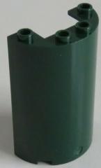 LEGO - 2 x Zylinder / Cylinder halb 2 x 4 x 5 mit Ausschnitt, dunkelgrün  #85941