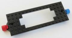 LEGO Zug / Train - Grundplatte / Base Plate 6 x 16 mit Magnete, schwarz # 4178a